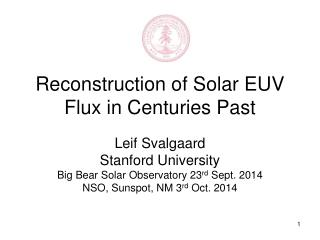 Reconstruction of Solar EUV Flux in Centuries Past