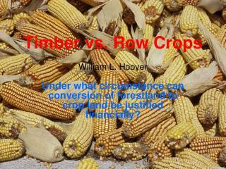 Timber vs. Row Crops