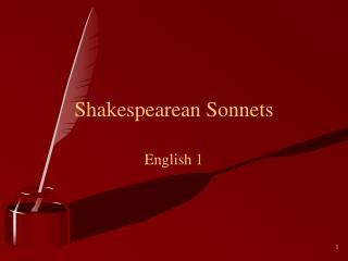 Shakespearean Sonnets