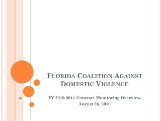 Florida Coalition Against Domestic Violence