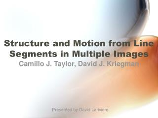 Structure and Motion from Line Segments in Multiple Images