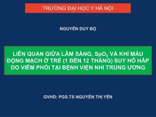 GVHD: PGS.TS NGUY?N TH? Y?N