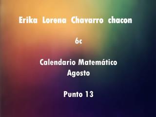 Erika  Lorena  Chavarro  chacon