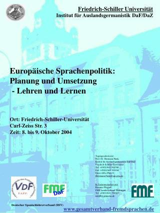 Europäische Sprachenpolitik: Planung und Umsetzung   - Lehren und Lernen
