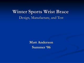 Winter Sports Wrist Brace