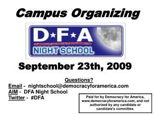 Campus Organizing