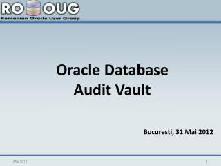 Oracle Database  Audit Vault