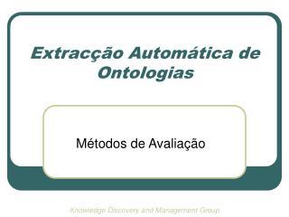 Extracção Automática de Ontologias