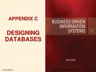 APPENDIX C DESIGNING DATABASES
