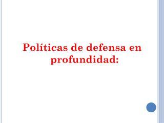 Políticas de defensa en profundidad:
