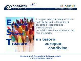 Seminario di Formazione Interregionale  L'Europa dell'istruzione