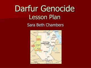 Darfur Genocide Lesson Plan