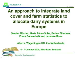 An approach to integrate land cover and farm statistics to allocate dairy systems in Europe