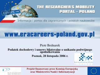 Piotr Bednarek Podatek dochodowy i umowy bilateralne o unikaniu podwójnego opodatkowania