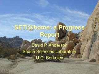 SETI@home: a Progress Report