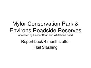 Mylor Conservation Park & Environs Roadside Reserves Accessed by Hooper Road and Whitehead Road