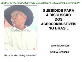 SUBSÍDIOS PARA  A DISCUSSÃO  DOS AGROCOMBUSTÍVEIS NO BRASIL