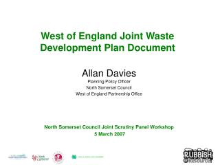 West of England Joint Waste  Development Plan Document