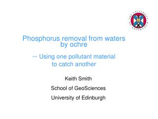 Phosphorus removal from waters  by ochre  --  Using one pollutant material  to catch another