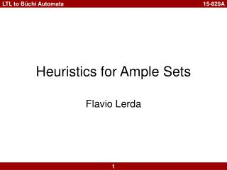 Heuristics for Ample Sets