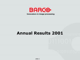 Annual Results 2001