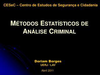 Doriam Borges UERJ / LAV