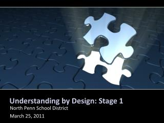 Understanding by Design: Stage 1