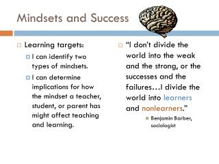 Mindsets and Success