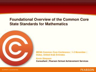 Foundational Overview of the Common Core State Standards for Mathematics