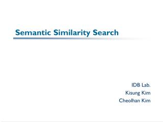 Semantic Similarity Search