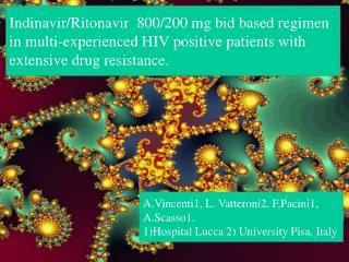 Indinavir/Ritonavir  800/200 mg bid based regimen in multi-experienced HIV positive patients with