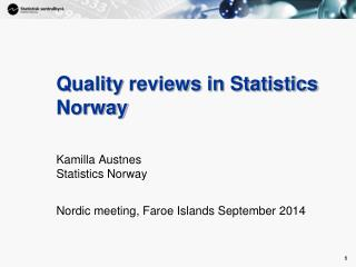 Quality reviews in Statistics Norway