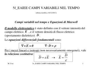 5f_EAIEE CAMPI VARIABILI NEL TEMPO (ultima modifica 16/12/2011)
