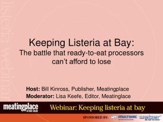 Keeping Listeria at Bay: