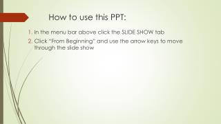 How to use this PPT: