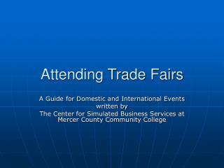 Attending Trade Fairs