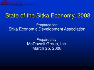 State of the Sitka Economy