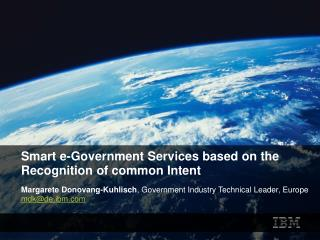 Smart e-Government Services based on the Recognition of common Intent