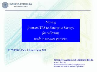 Moving  from an ITRS to Enterprise Surveys  for collecting trade in services statistics