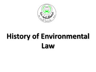 History of Environmental Law