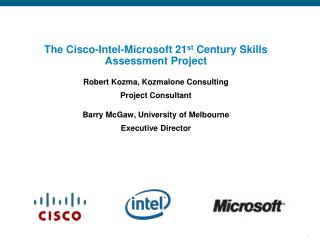 Cisco/Intel/MS  Education Sync Meeting