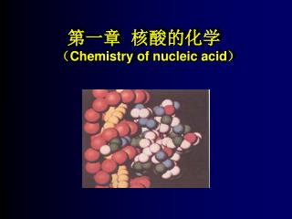 第一章  核酸的化学 ( Chemistry of nucleic acid)