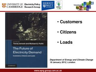 Slide 1 - Electricity Policy Research Group