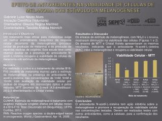 EFEITO DE ANTIOXIDANTES NA VIABILIDADE DE CÉLULAS DE MELANOMA SOB ESTÍMULO DA MELANOGÊNESE