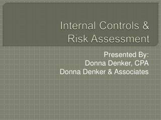 Internal Controls   Risk Assessment