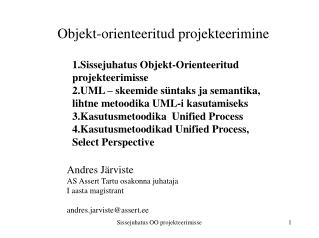 Objekt-orienteeritud projekteerimine