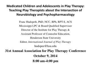 Franc Hudspeth, PhD, NCC, RPh, RPT-S, ACS Mississippi LPC & Board Qualified Supervisor