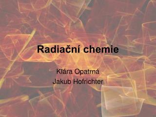 Radiační chemie