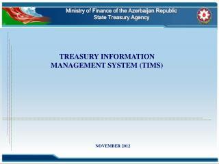 Ministry of Finance of the Azerbaijan Republic  State Treasury Agency
