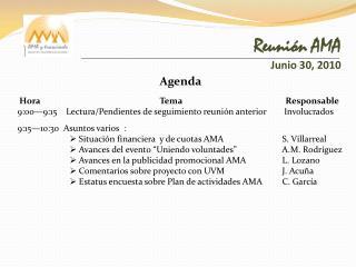 Reunión AMA Junio 30, 2010